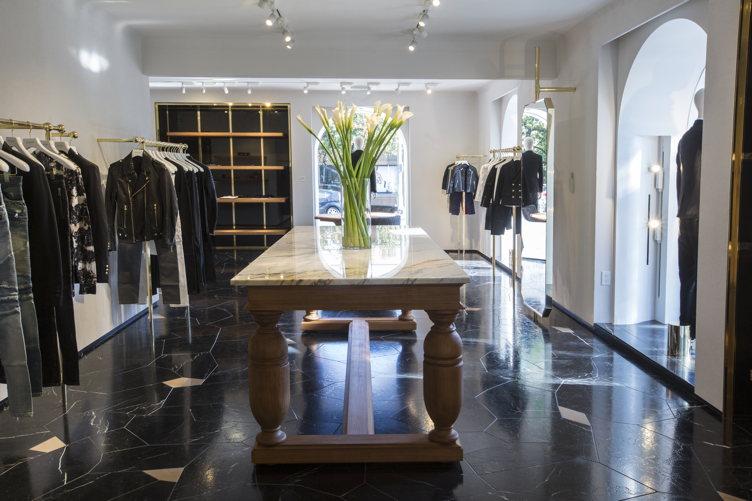 The interiors of the new Balmain store