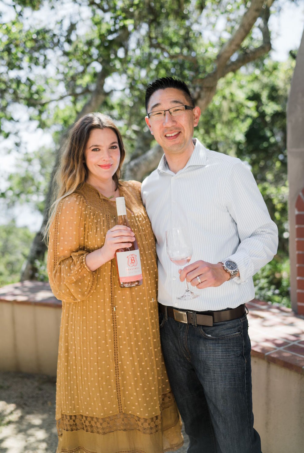 Barrymore and winemaker Kris Kato