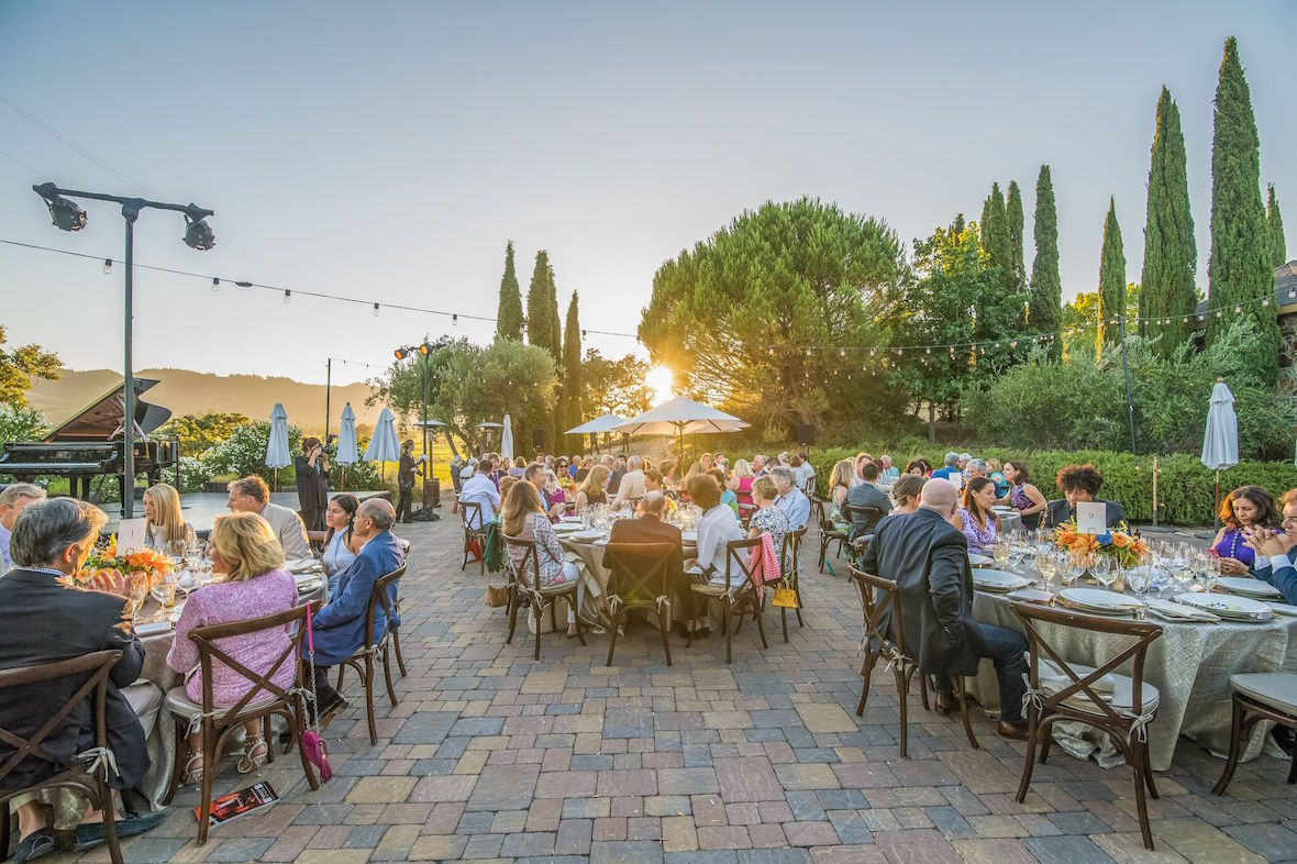 A winery dinner during the 2016 festival