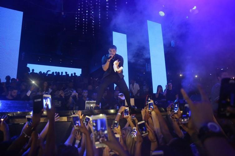 Drake performing