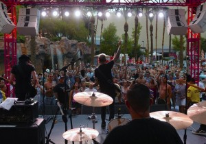 Everclear performs at the Go Pool at the Flamingo.