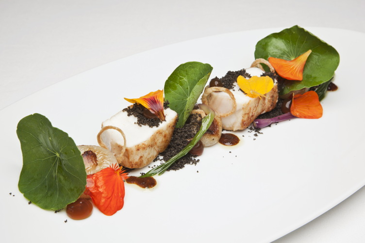 Halibut with Nasturtiums at Providence