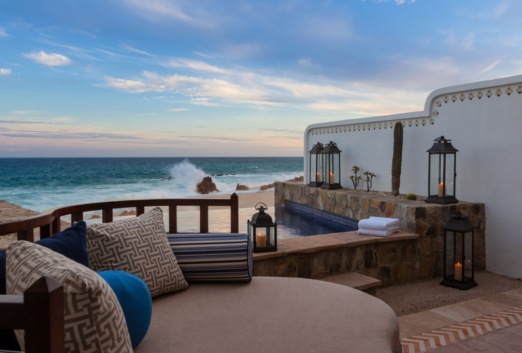 A view from the ocean front pool casita and One&Only Palmilla