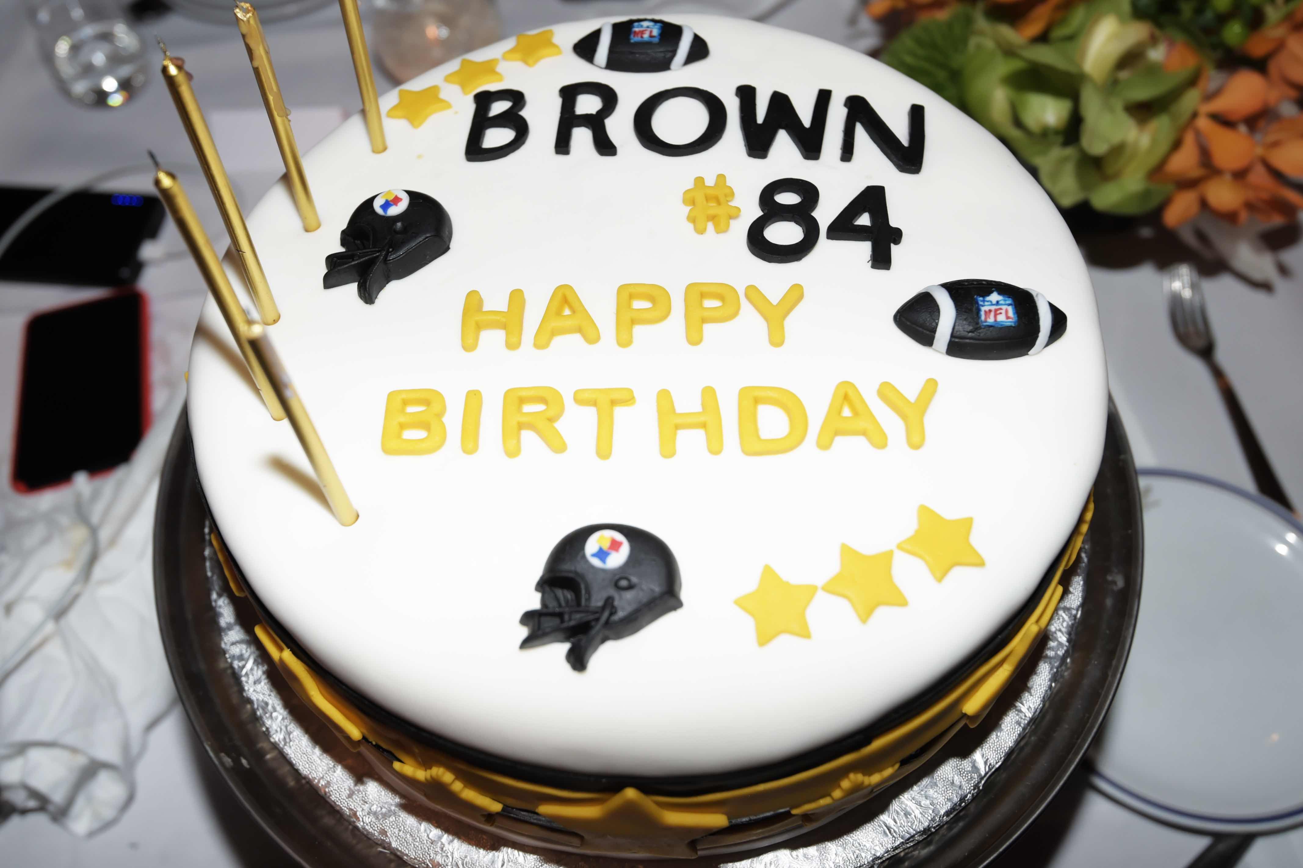 Antonio Brown's Birthday Cake