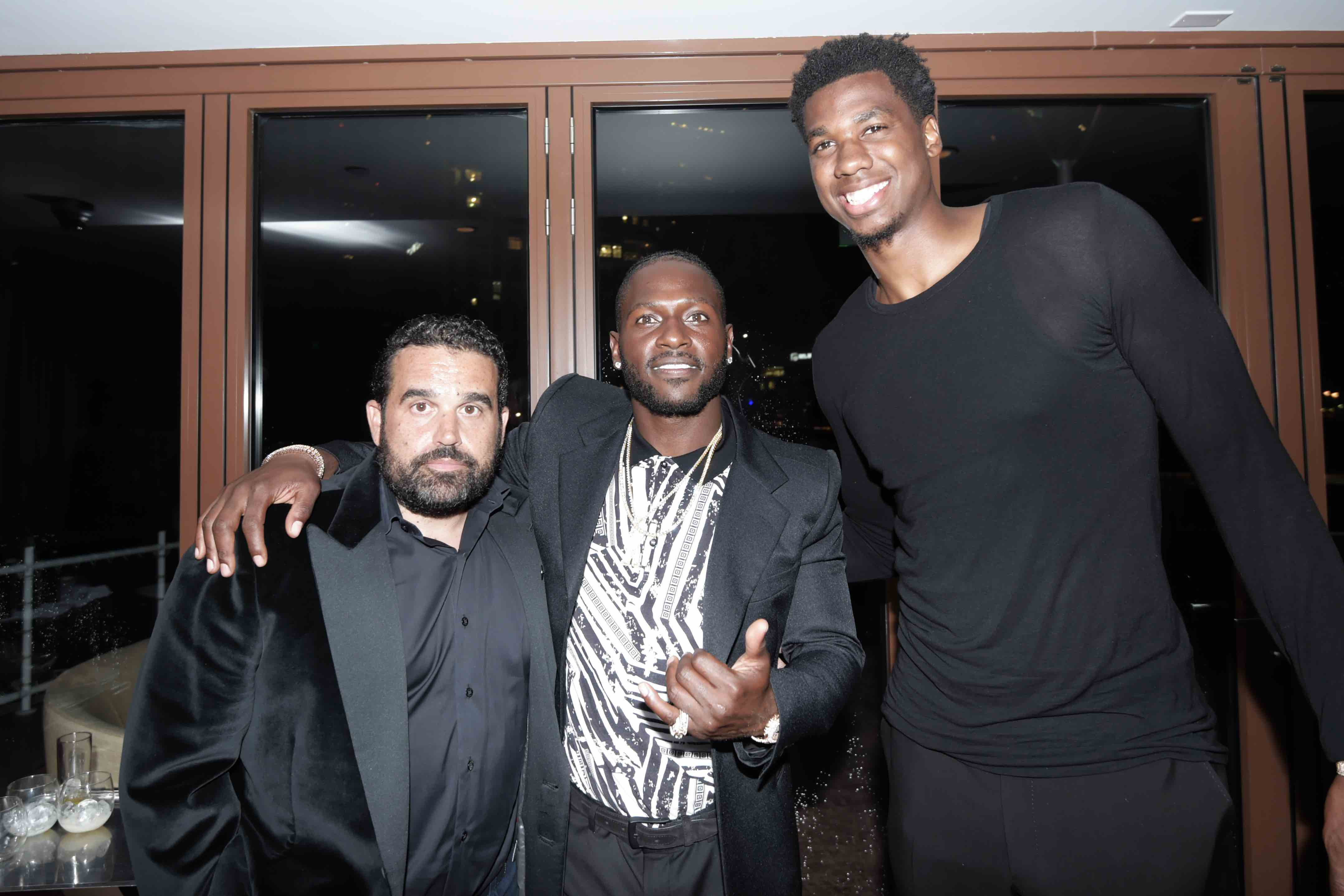 Seth Semilof, Antonio Brown and Hassan Whiteside