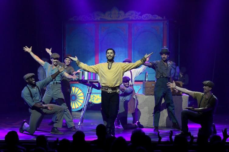 "Geddy ""The Sensational Sozonov"" Pavlovich (center) performs during the opening night of ""Circus 1903"" at Paris Las Vegas."