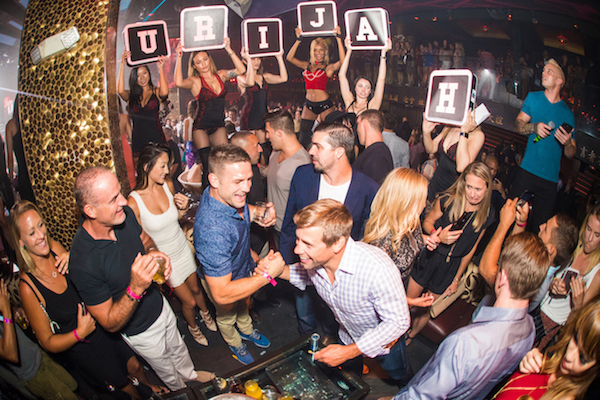 Urijah Faber celebrate his Hall of Fame induction at Tao Nightclub.