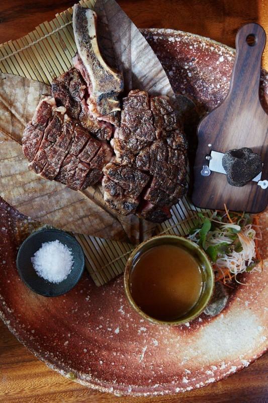 Zuma bone-in rib eye with fresh truffle 1