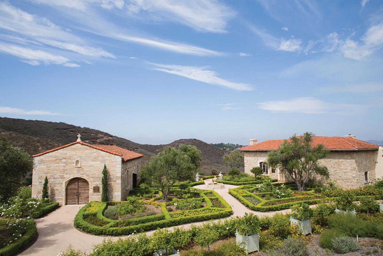 The pretty landscape at Cal-a-Vie