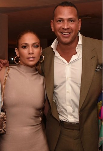 Jennifer Lopez and Alex Rodriguez at the New Era Cap MLB All-Star Party