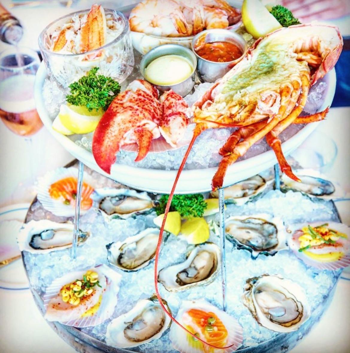 Petit Marlowe's raw seafood platter