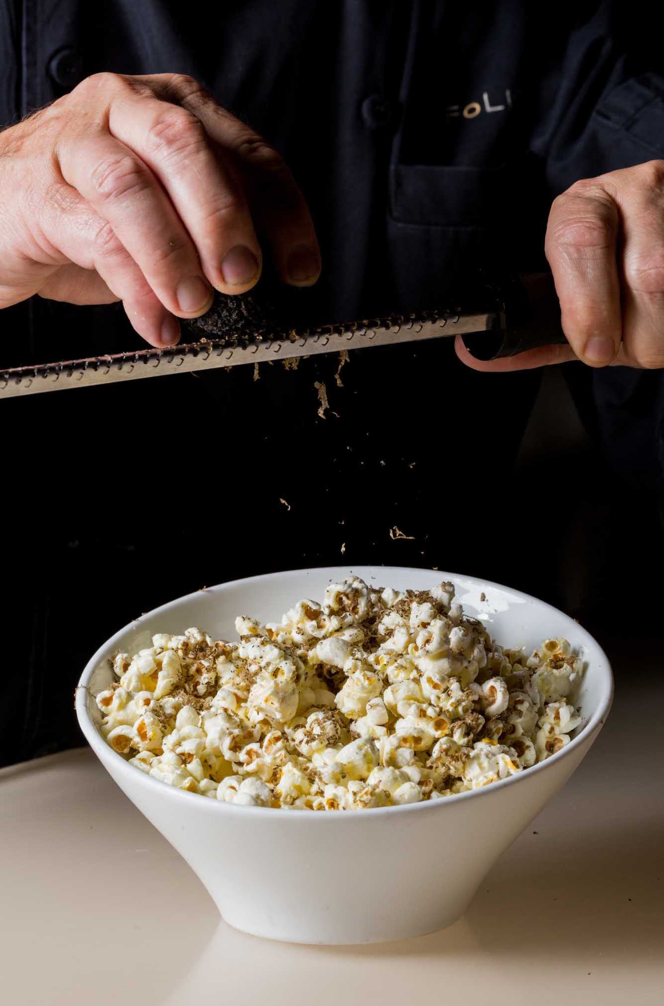Truffled popcorn at La Folie Lounge