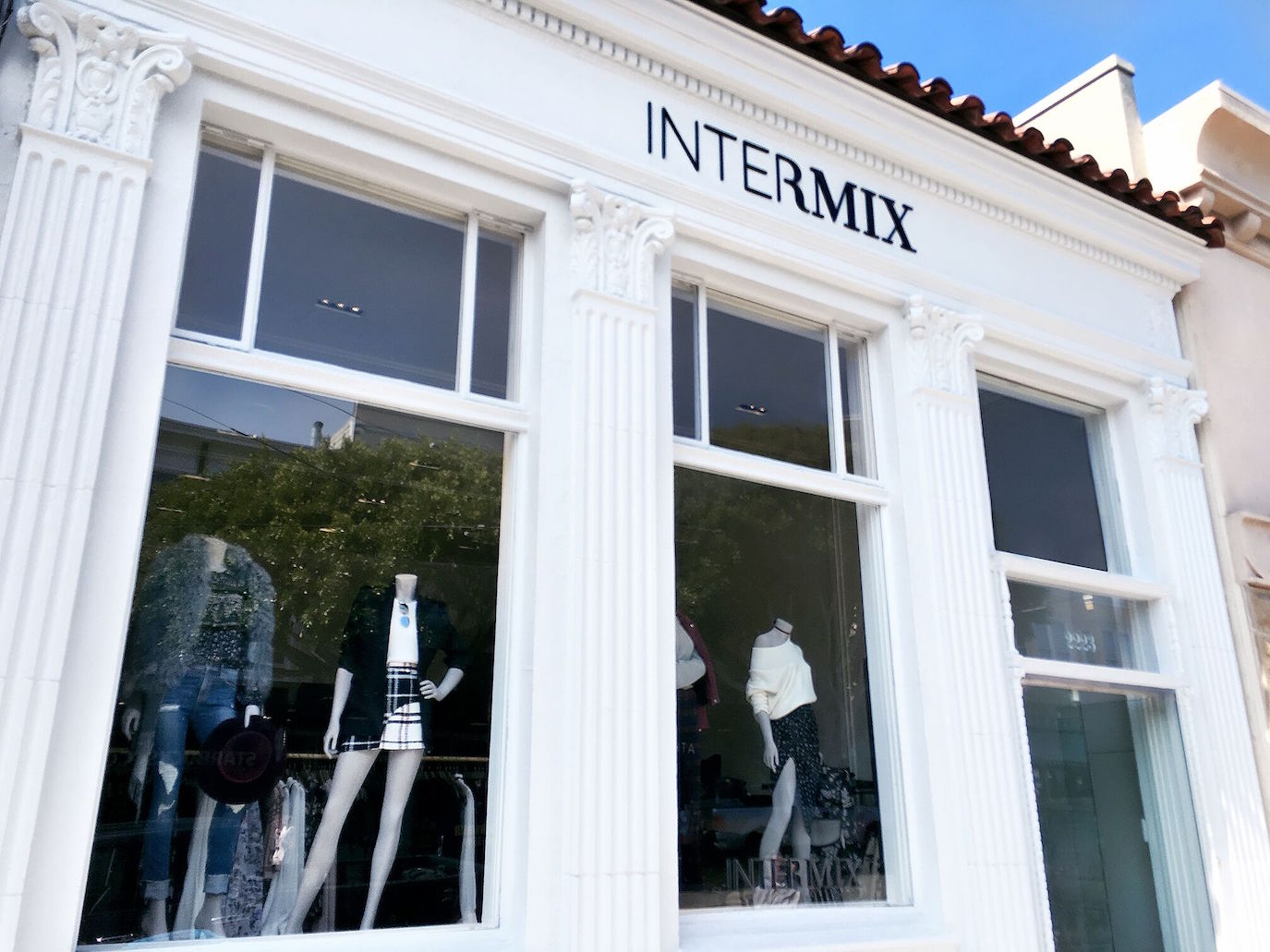 The storefront at Intermix