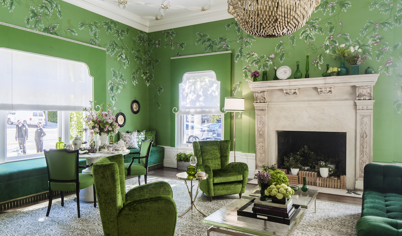 Rachman designed this gorgeous room for the 2016 SF Decorator Showcase