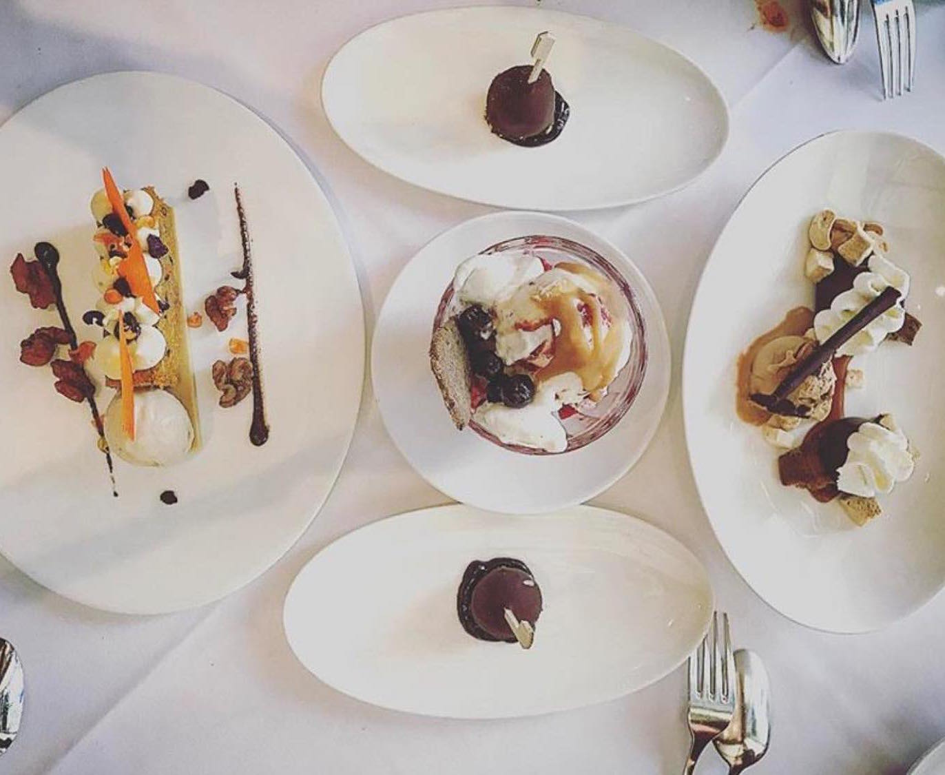 A spread of dessert at Boulevard