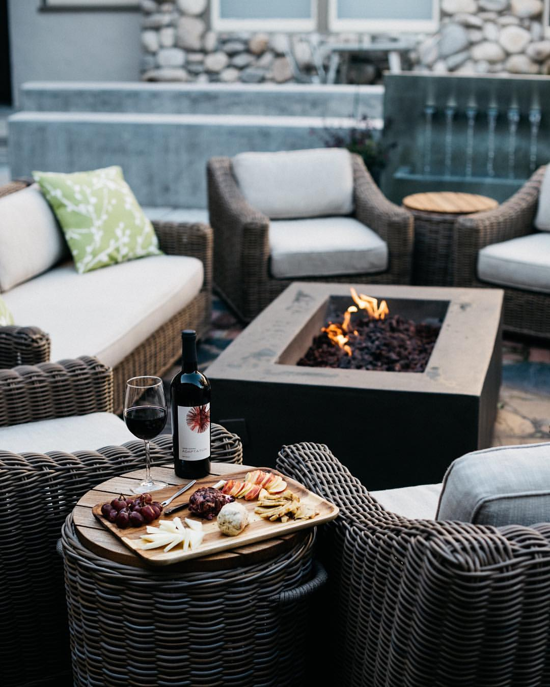 The Hideaway's outdoor fire pit