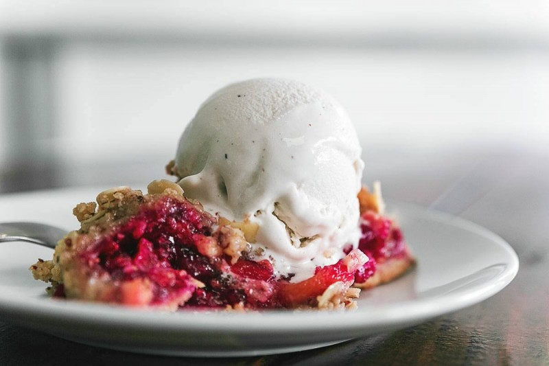Plant-based cherry pie at Real Food Daily