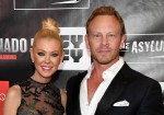 """Actress Tara Reid and actor Ian Ziering attend the premiere of """"Sharknado 5: Global Swarming"""" at The Linq."""