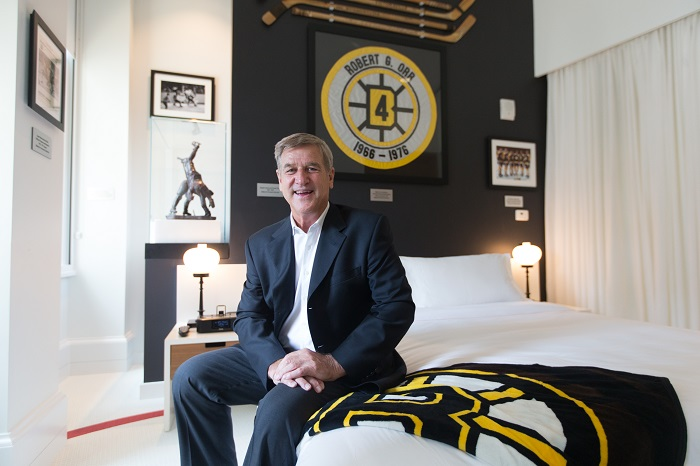 Ames Boston Bobby Orr in Suite Bedroom