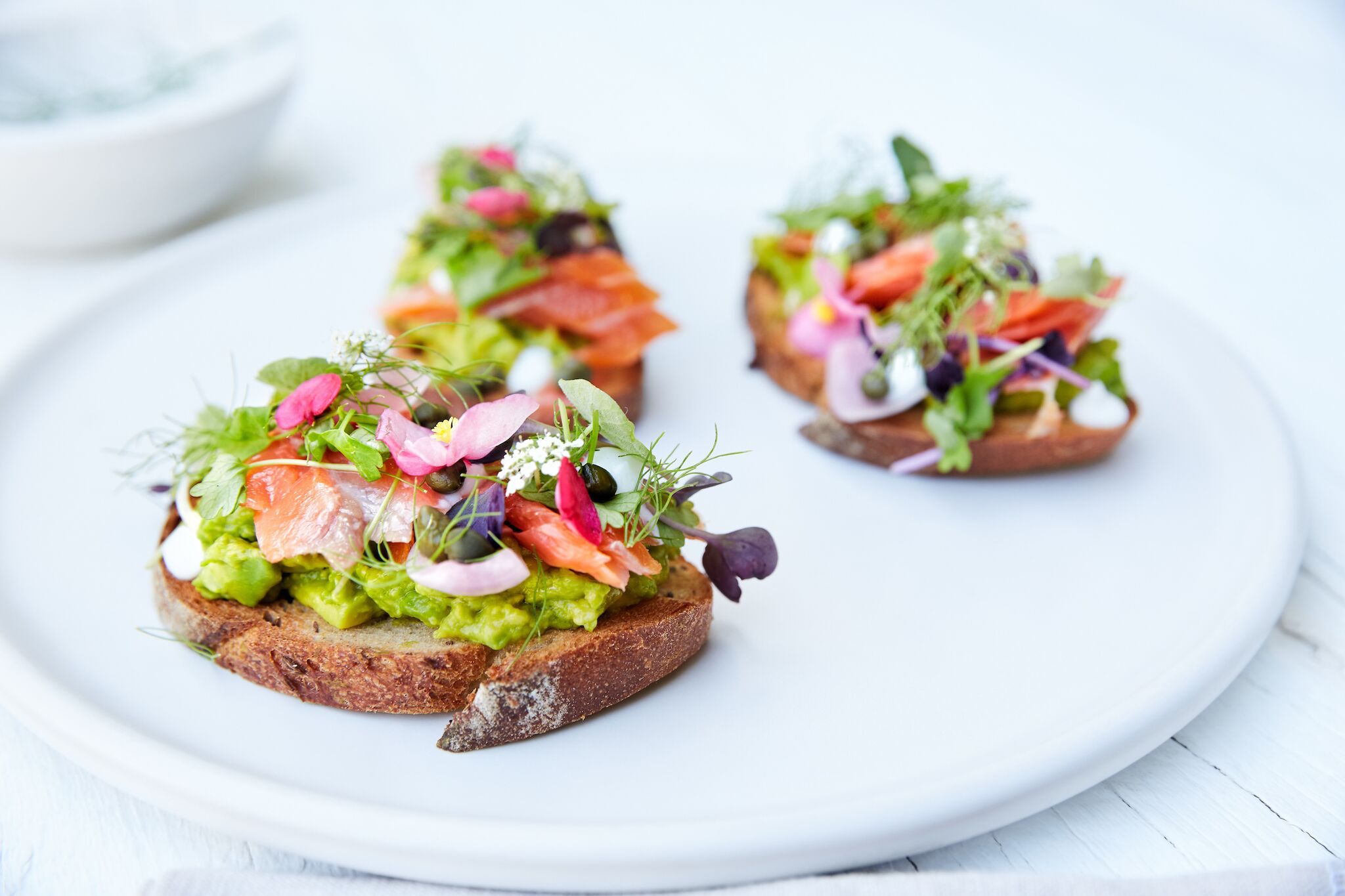 The most glamorous avocado toast you'll ever taste