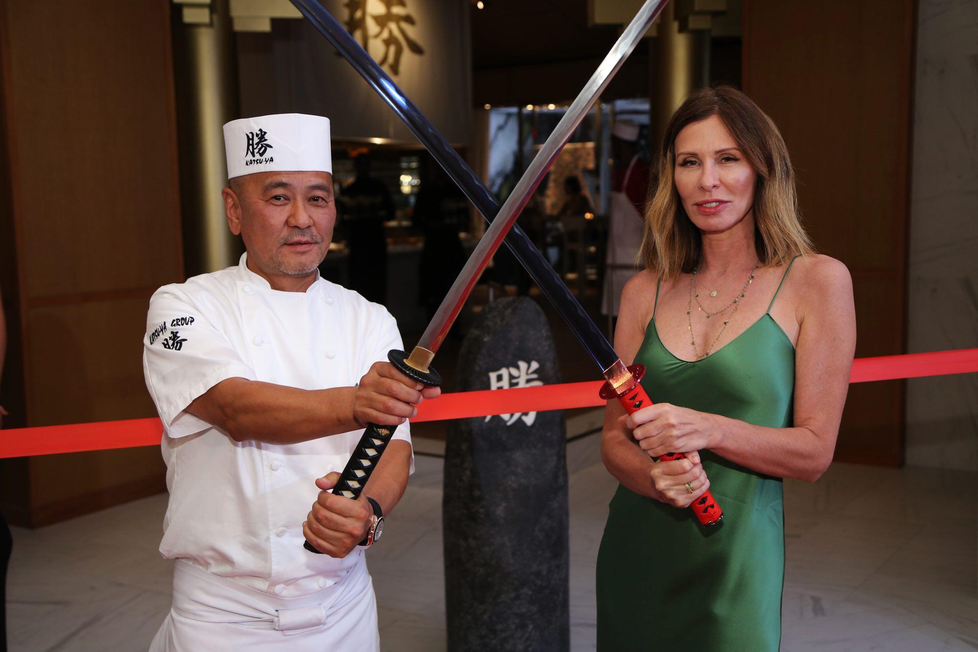 Chef Katsuya Uechi + Carole Radziwill