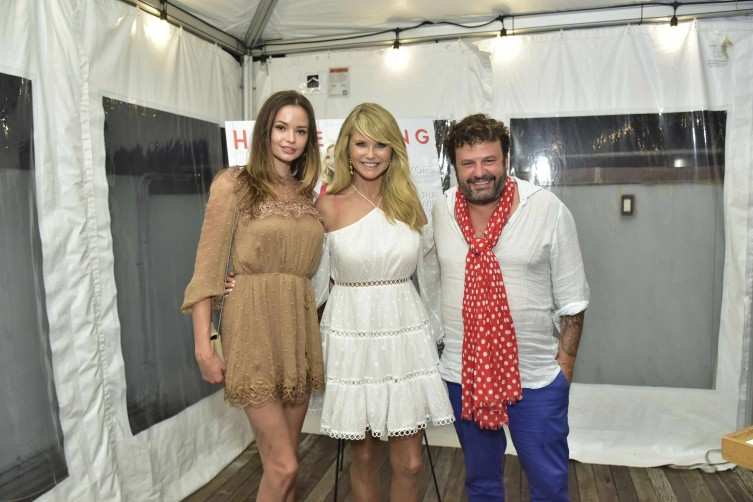Marija Shatilo, Christie Brinkley and Domingo Zapata
