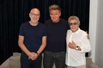 Gordon Ramsay with The Who