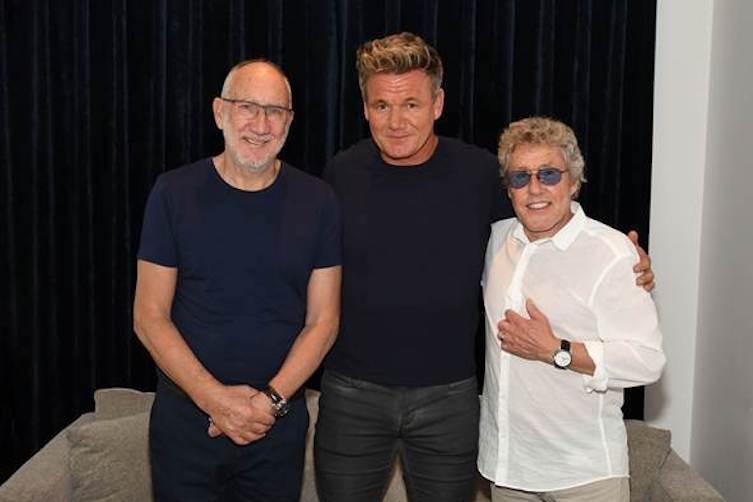 Gordon Ramsay with The Who.