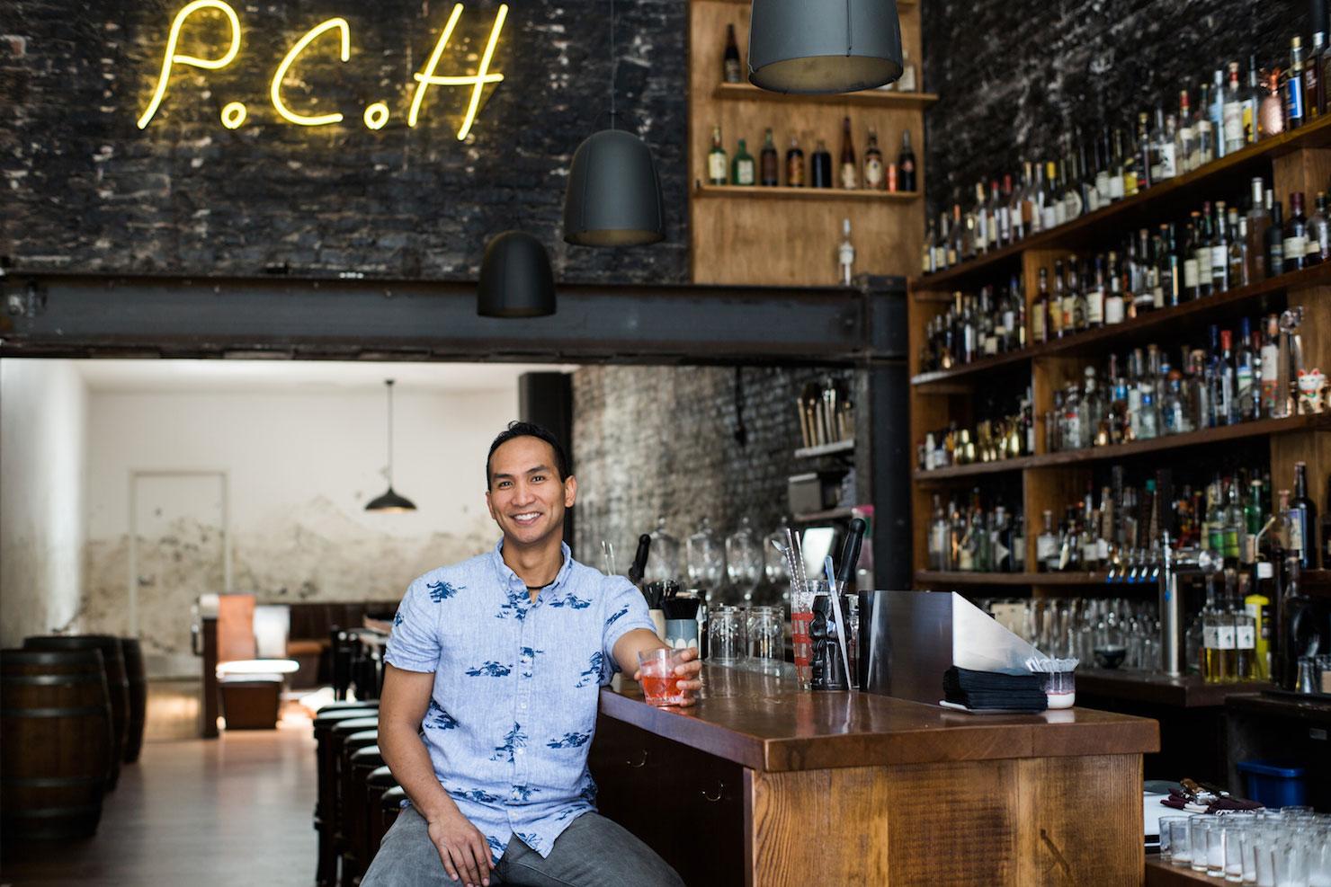 Kevin-Diedrich in his bar