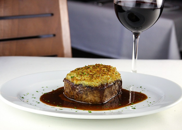 Ocean Prime - Filet with Maytag Bleu Cheese Crust