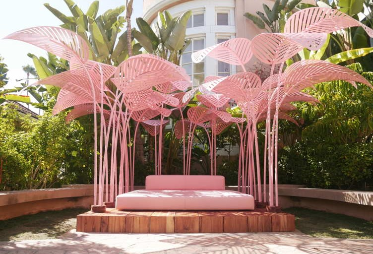 Artist Marc Ange Presents The Palm-Tree Perfect Refuge At The Beverly Hills Hotel
