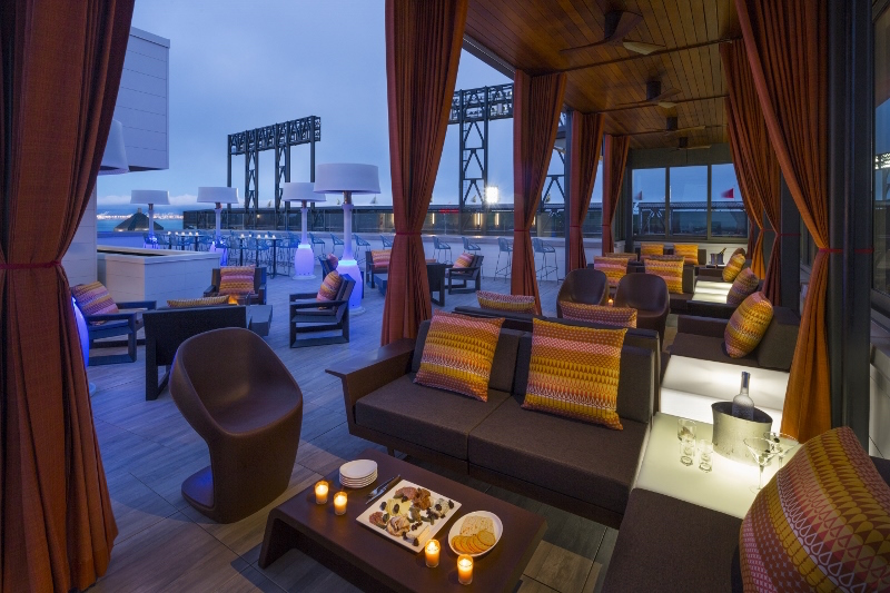 The rooftop bar at Hotel VIA