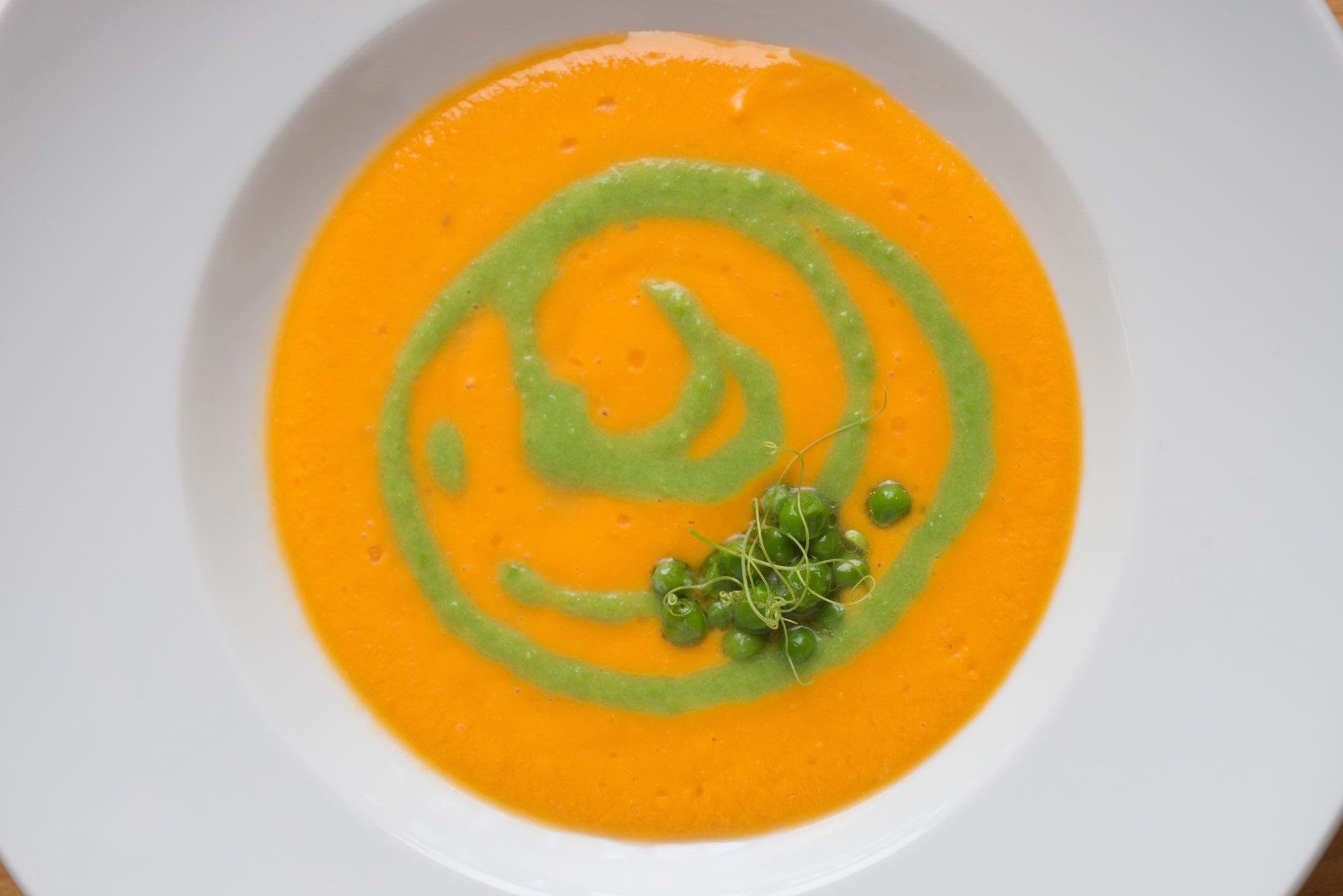 A vegan carrot puree