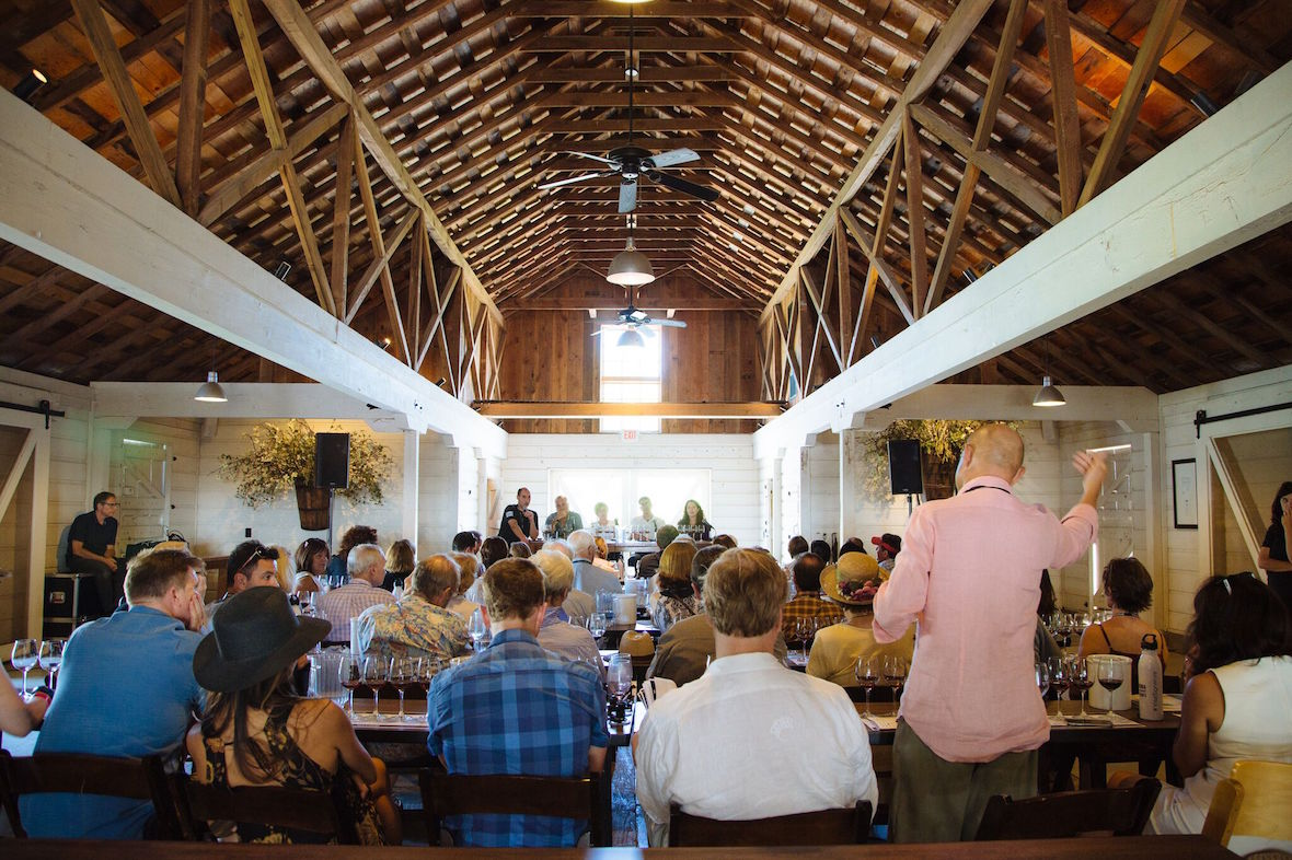 A wine seminar at Taste of Sonoma