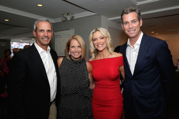 John Molner, Katie Couric, Megyn Kelly and Douglas Brunt