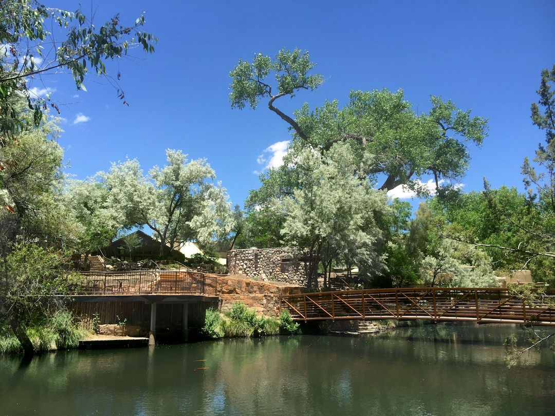 The bridge at Sunrise Springs
