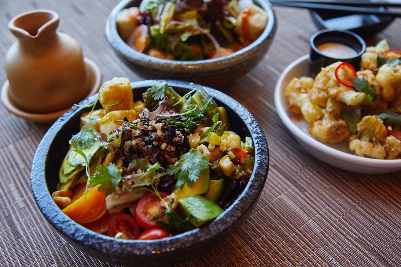 Veggie bowl at Chaya