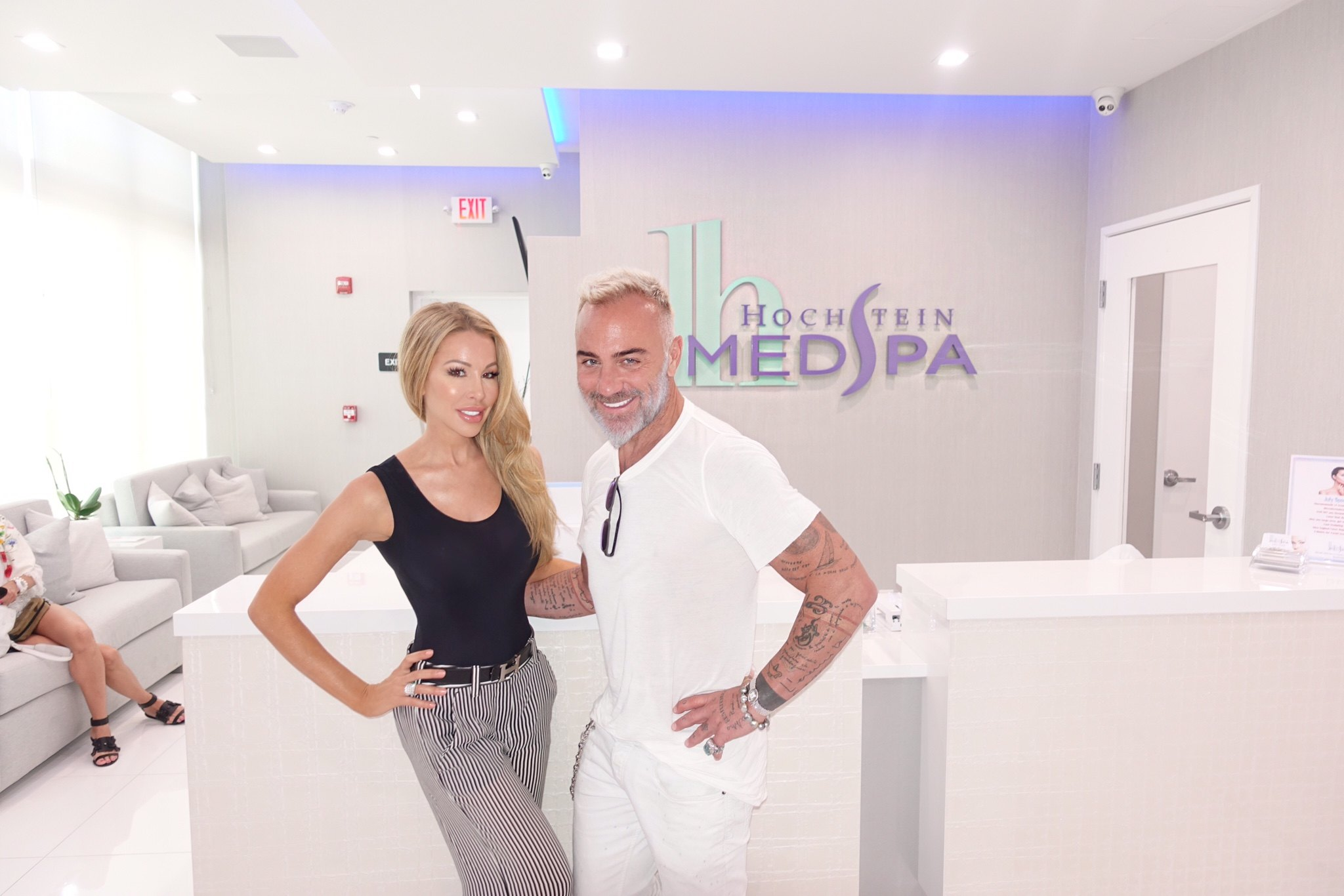 lisa hochstein and gianluca vacchi at Hochstein MedSpa