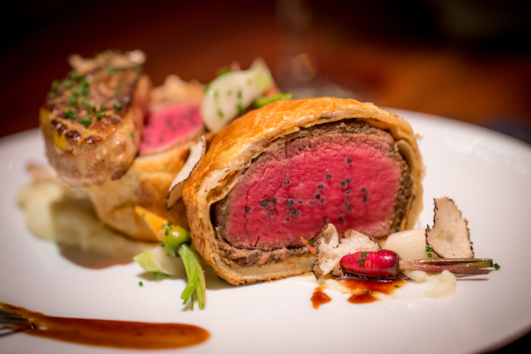Beef Wellington at Gordon Ramsay Steak.