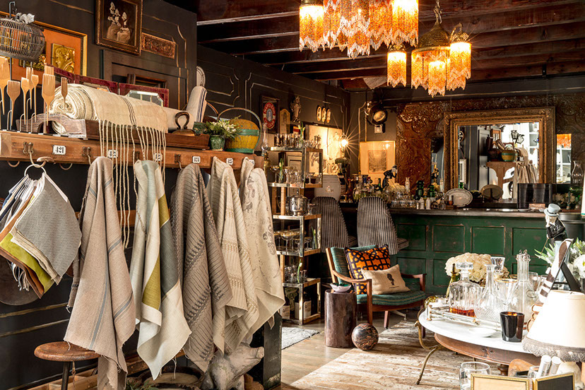 Inside Rachman's store