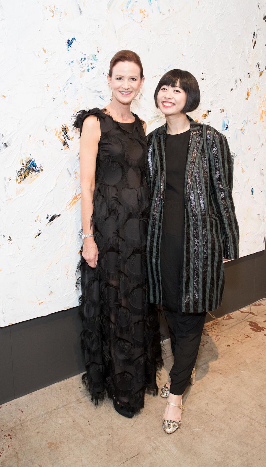 Event chair Judy Jorgensen and fashion designer Yuka Uehara