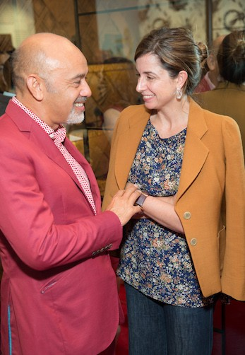 Christian Louboutin at his San Francisco Boutique