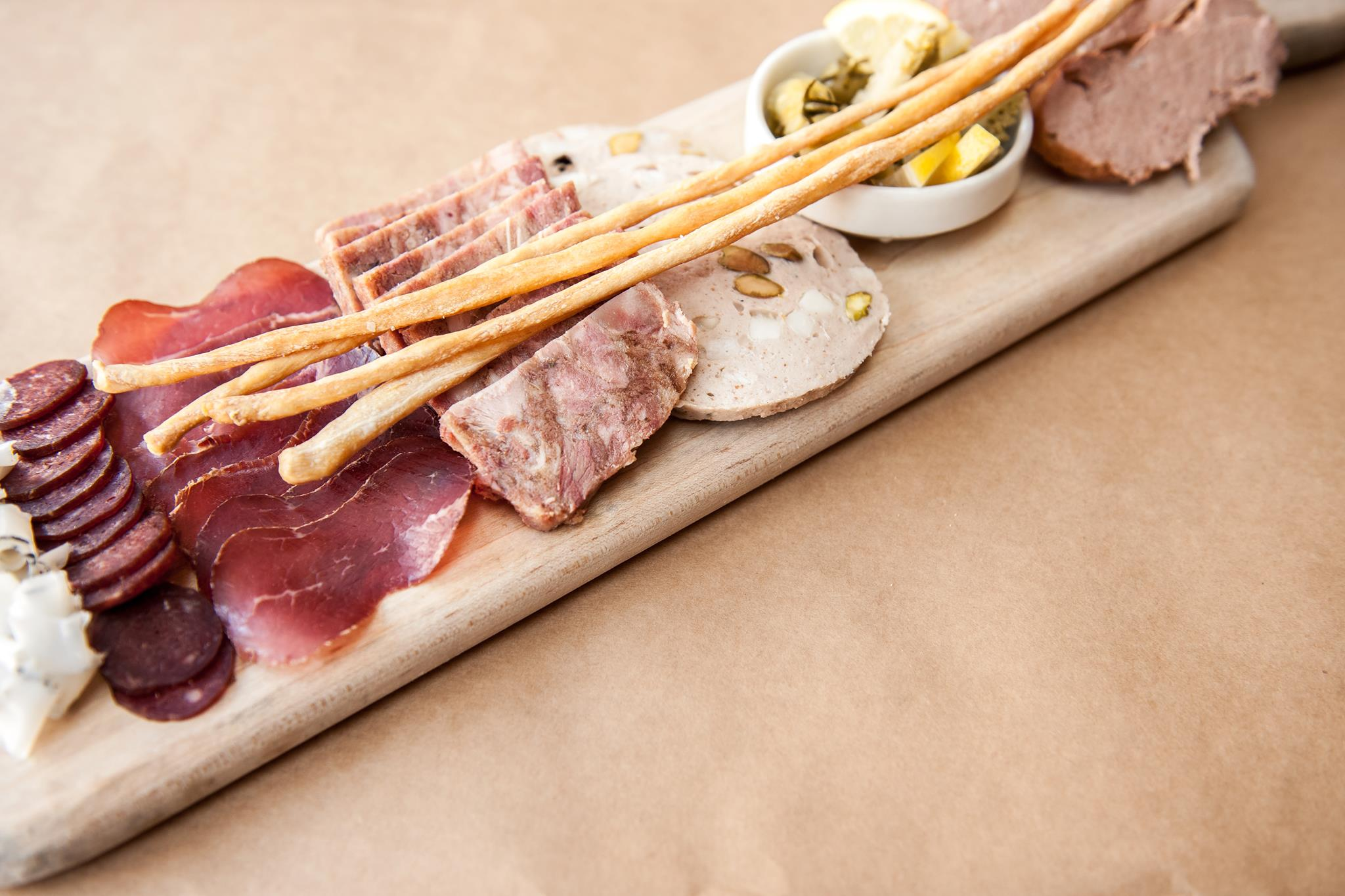 A charcuterie platter at A16