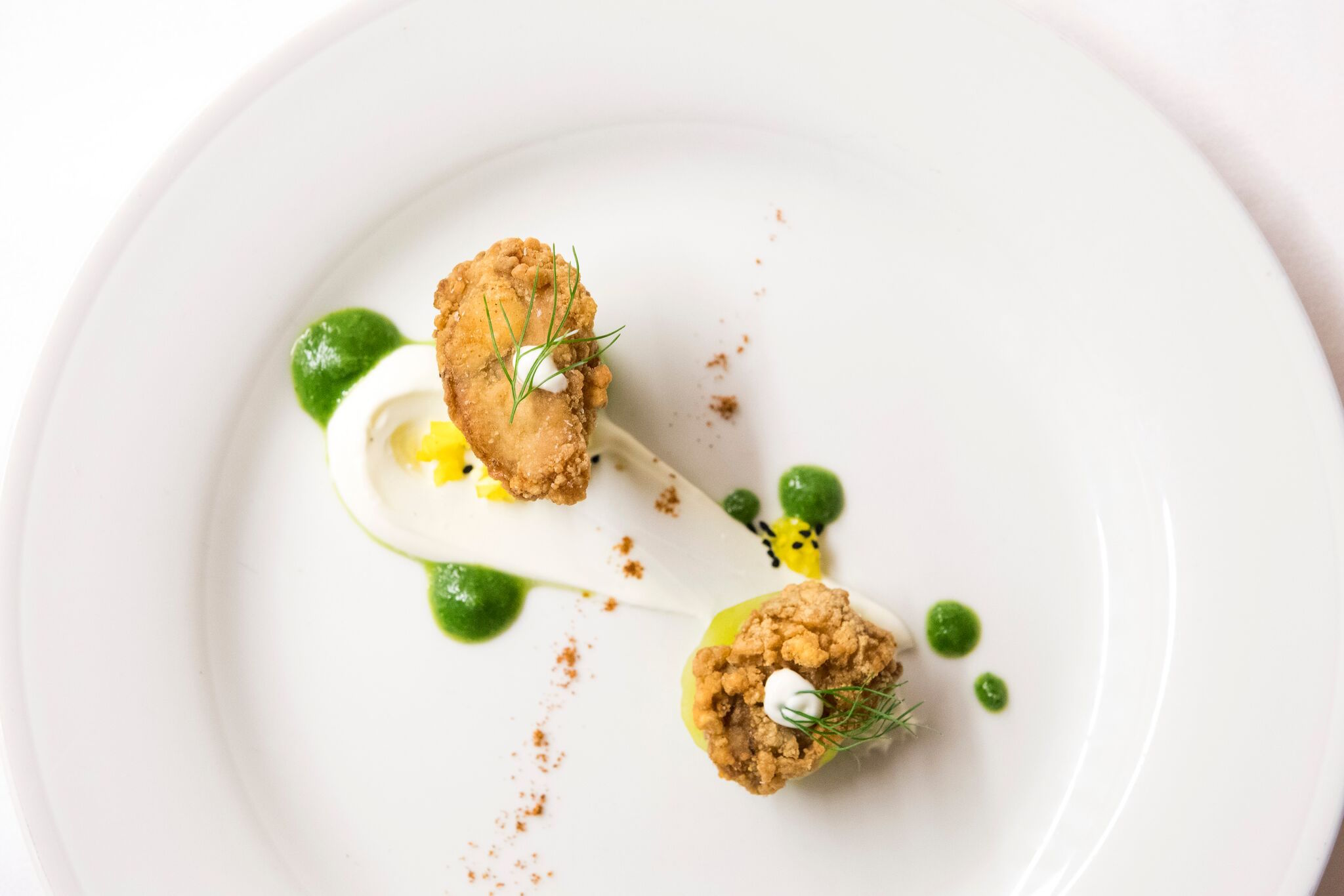A plate served at last year's James Beard dinner