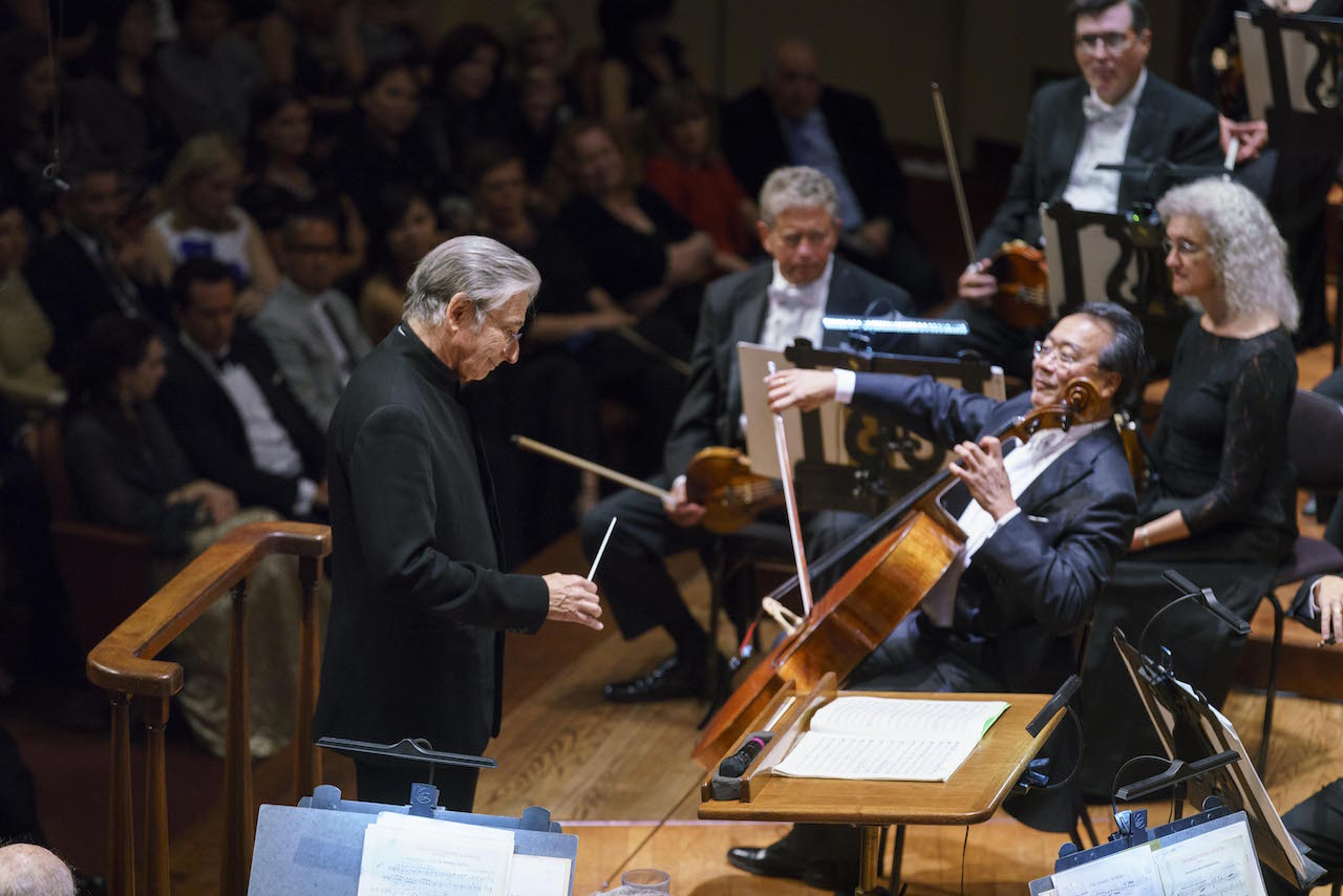 Michael Tilson Thomas and Yo Yo Ma