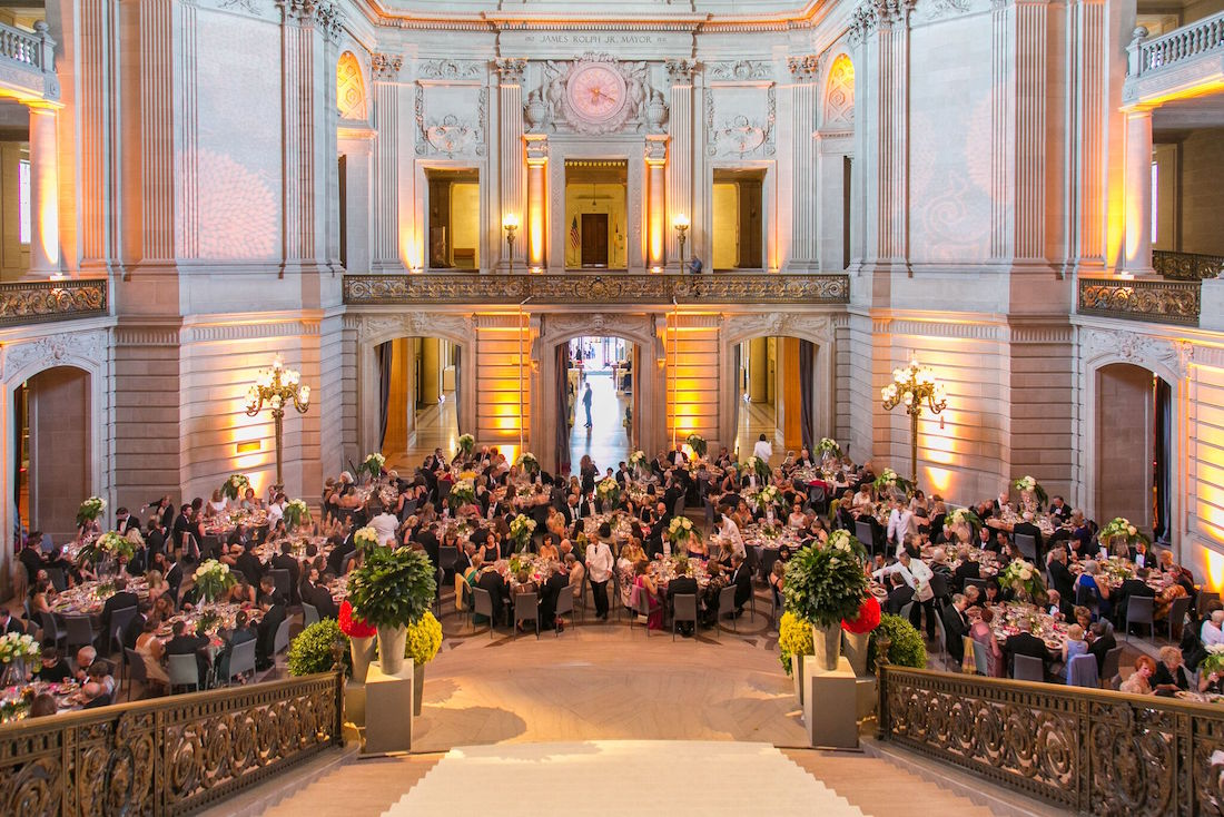 The 2016 Symphony Supper inside City Hall's Grand Rotunda.