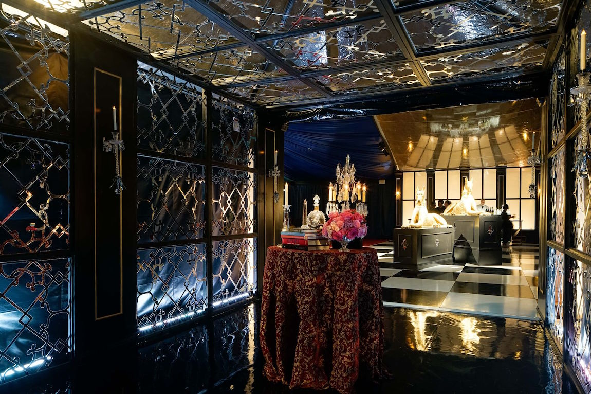The decor in the Opera Ball Pavilion at last year's event