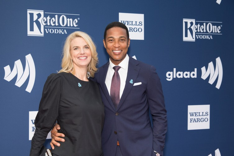 SAN FRANCISCO, CA - SEPTEMBER 09:  From left, Sarah Kate Ellis and Don Lemon celebrate achievements in the LGBTQ community at the GLAAD Gala San Francisco, in partnership with LGBTQ ally, Ketel One Vodka at City View at Metreon on September 9, 2017 in San Francisco, California.  (Photo by Miikka Skaffari/Getty Images for Ketel One Vodka)