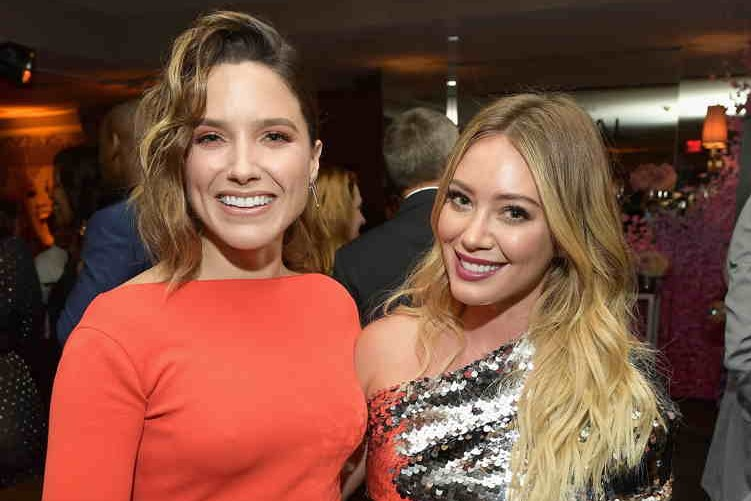 Sophia Bush (L) and Hilary Duff attend the 2017 Entertainment Weekly Pre-Emmy Party at Sunset Tower on September 15