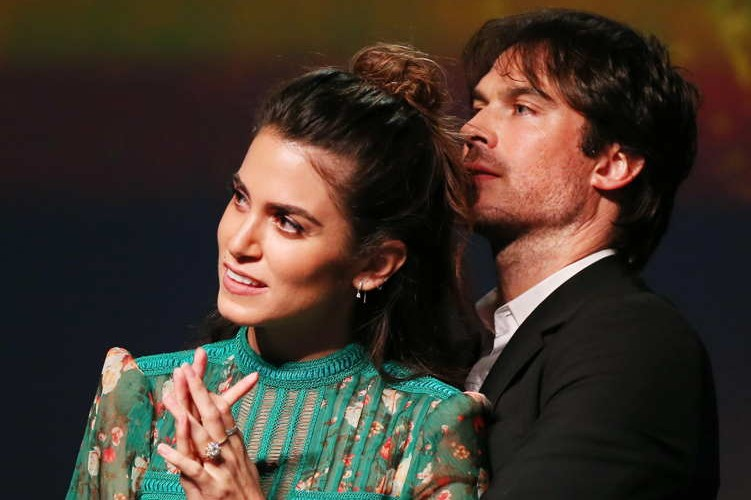 Nikki Reed (L) and Ian Somerhalder